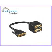 Wholesale Cableader Digital Life High Performance DVI-D Monitor Cable DVI 24+1 male To 2 HD 15pin male to male from china suppliers