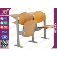 Wholesale Melamine Desktop Foldable College Classroom Furniture , Lecture Theatre Chairs from china suppliers