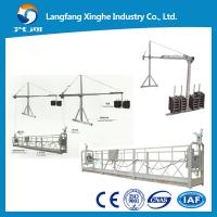Wholesale hot galvanized suspended access platform / zlp630 suspended scaffolding electric / zlp800 gondola platform from china suppliers