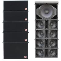 Buy cheap dual 8'' stage line array Mini pa speakers Line Array systems live sound equipment line array speaker system pro audio from wholesalers
