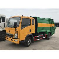 Wholesale HOWO 4X2 8m3 Garbage Compactor Truck 5tons Waste Collector Truck Compressed Garbage Truck from china suppliers