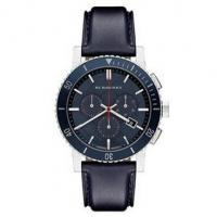 Wholesale Burberry Swiss 'The City' Chronograph Navy Blue Leather Strap Men's Watch BU9383 from china suppliers