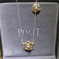 Wholesale Piaget Rose Pendant gold diamond  Necklace 18k gold  white gold yellow gold rose gold diamond Necklace 42 cm long from china suppliers