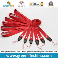 Wholesale Badge Lanyard Holder Plain Red Polyester Flat ID Safety Neck Tethers from china suppliers