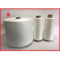 Quality Raw White Ring Spun Polyester Yarn For Sewing On Paper Core / Dyeing Tube / Hank for sale