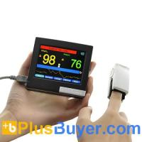 Wholesale Portable Finger Pulse Oximeter + Heart Rate Monitor - 3.5 Inch Touchscreen from china suppliers