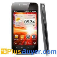 Wholesale Dual SIM Android Smarphone with 3.5 Inch Display and 1GHz CPU - Black from china suppliers