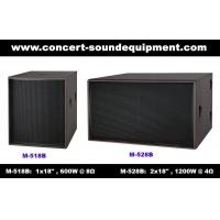 "Wholesale Disco Sound Equipment / 2x18"" Direct Reflex 4ohm 1200W Subwoofer For Concert , Nightclub And Living Event from china suppliers"
