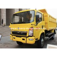 Quality Left Hand Driving Small Heavy Duty Dump Truck 150hp , 8.25R16 Radial Tire for sale