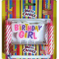 Wholesale Girl Style Pick Letter Birthday Candles No Dripping Pink Paraffin For Happy Activity from china suppliers