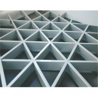 Wholesale Decorative False Triangle Metal aluminum Grid Ceiling system ivory With A type from china suppliers