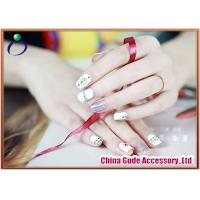 Wholesale Beautiful Artificial Girls' 3D Fake Nails , gold foil-effect and bright white from china suppliers