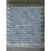 Wholesale Light Gray Green Marble Mosaic Tiles 1.25*2.5cm from china suppliers