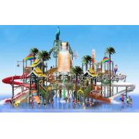 Wholesale Outdoor Water Playground Equipments with water house and water slide for water park from china suppliers