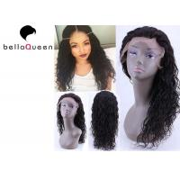 "Wholesale Raw Unprocessed Natural black Water Wave Human Hair Lace Wigs , 14""-24"" Inch Length from china suppliers"