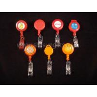 Quality Different various types red and orange badge reels, retractable reel, promotional gift for sale