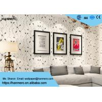 Wholesale Leaf Pattern Embossed Vinyl Modern Removable Wallpaper Contemporary Wall Coverings from china suppliers