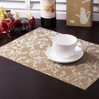 Wholesale Top grade jacquard weave Textilene square placemat from china suppliers