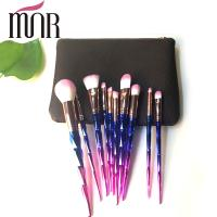 Quality Copper Ferrule Plating Rainbow Professional Makeup Brush Set Environment Friendly for sale