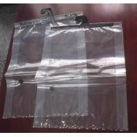 Wholesale Plastic Clear Grip Seal Colthes Packaging Pouch With Hanger / Sliding Zipper from china suppliers