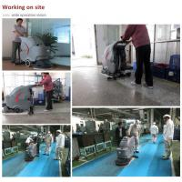 Automatic walk behind battery type floor scrubber cleaning machine