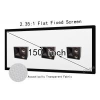Wholesale 2.35 : 1 Widescreen Flat Projection Screen , Large Projection Screen With 1491 x 3505mm Watching Space from china suppliers