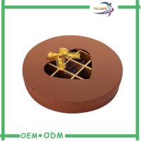 Wholesale Decorative Brown Round Chocolate Boxes Packaging With Transparent Window from china suppliers
