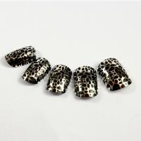 Wholesale leopard print Fingers Fake Nails french manicure with ABS material from china suppliers