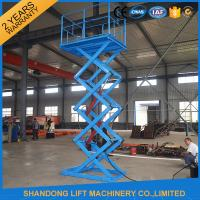 Wholesale 1 Ton Stationary Hydraulic Scissor Lift for Home Use 1.6m x 1.2m Platform size from china suppliers