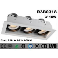 Wholesale High Brightness COB Triple - Head CITIZEN LED Down Lights Aluminum 2700K - 3000K from china suppliers