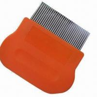 Wholesale Lice comb, handle made of plastic, stainless steel pins easily reach scalp from china suppliers