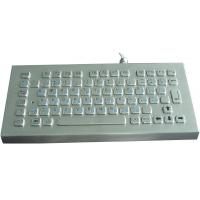 Quality IP65 anti vandal rugged desktop industrial metal keyboard with long stroke key travel for sale