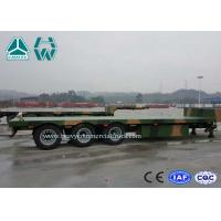 Wholesale 40 Feet Hydraulic Low Bed Semi Trailer 60 Ton With 4 Axle Camouflage Paint from china suppliers