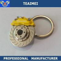 Wholesale Metal Custom Yellow Brake Disc Logo Car Keychains With Chrome Plated Finish from china suppliers