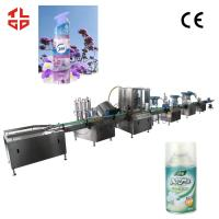 Wholesale Pneumatic Aerosol Spray Filling Machine For Air Freshener Fully Automatic 2000-3200cans/Hr from china suppliers