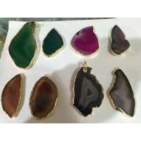 Wholesale Drusy Gemstone Pendant With Amethyst Heart , Hole Raw Agate Stone Point Necklace from china suppliers