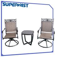 Wholesale Aluminum Outdoor Furniture 3 Piece Bistro Table Set With Swivel Chair SGS from china suppliers