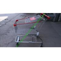 Wholesale Silver Grocery Shopping Trolley / Metal Supermarket Shopping Cart 100Kgs from china suppliers