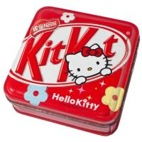 Quality Red Hello Kitty Metal Tin Container Box Square Shape For Candy And Food Packaging for sale