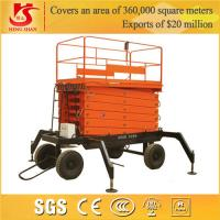 Wholesale hydraulic scissor lift Four wheels trali-type lift table from china suppliers