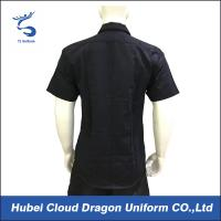 Quality Custom Design Black Security Guard Shirts , Tactical Work Shirt For Duty for sale