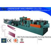 Wholesale 415V C Z Purlin Roll Forming Machine For 80-300mm C&Z Steel Purlin from china suppliers