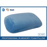Buy cheap Blue Crystal Velvet Relaxation Memory Foam Sleep Pillow Or Nap Pillow from wholesalers