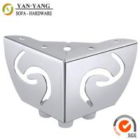 Wholesale 55mm high hollow out furniture legs metal corner sofa legs with linetype pattern SL-096 from china suppliers