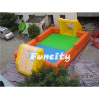 Wholesale 0.55mm Pvc Tarpaulin Inflatable Football Field With Pillar And Net from china suppliers