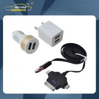 Buy cheap CE Approval Car Power Charger Kit , Mini Charger kit with Double Dual USB from wholesalers