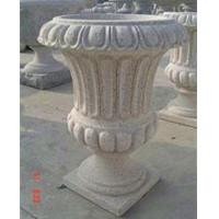 Wholesale Stone Outdoor Flowerpots, Grey Granite Flower Bed for Decoration from china suppliers