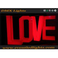 Wholesale Bright Wedding Led Light Up Letters Love Decoration Environment Friendly from china suppliers