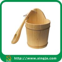 China 6L wooden bucket & wooden scoop on sale