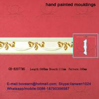 Wholesale Hand Painted Green plant / Crown mouldings / PU Mouldings from china suppliers